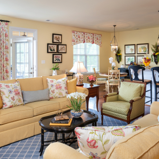 Traditional Family Room, Richmond