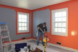 Painting upstairs guest room for Charlottesville VA Design House 2014
